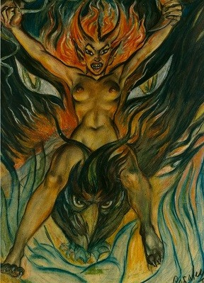 Rosaleen Norton Fire bird